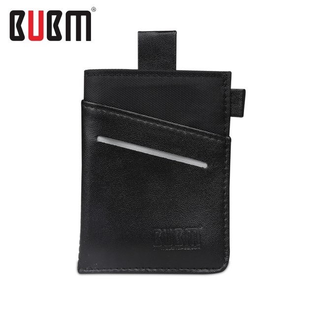 BUBM removable cards holders bag storage organizor pouch money change key bag fashion black khaki blue rose  5 pcs cards