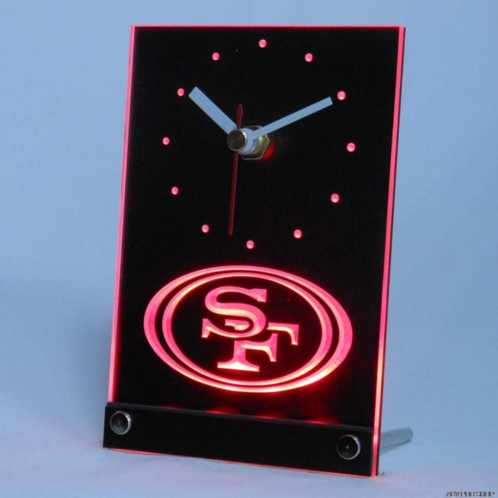 Tnc0516 San Francisco 49ers Table Desk 3D LED Clock