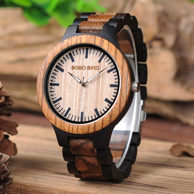 Antique BOBO BIRD L-N30 Lovers's Watches Hot-sell Custom Zebra Wood Craft Top Br