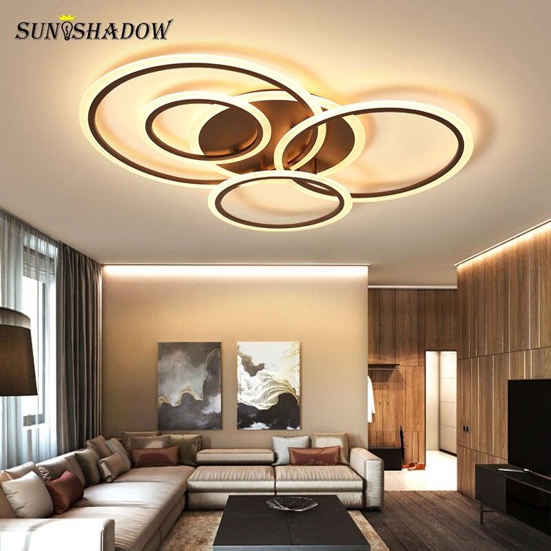 plafondlamp moderno led luz de teto para sala estar quarto cozinha branco cafe acrilico lustre lampada