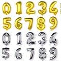 16/32/40 дюймов цифры-шары, золотые, серебряные, большие свадебные украшения, гигантские шары, праздвечерние чные шары, фигурки