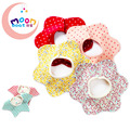 2017New Baby Accessaries Cotton Baby Bibs For Infant Toddler Baby Kids Girl Boy Flower Star 360 degree Round Neck Burp Cloths