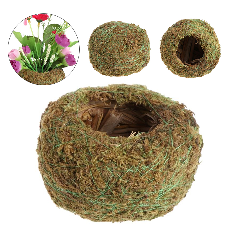 Green Moss Ball Flower Pot Flower Bonsai Pot Holder for Garden Home Decorations Moss Ball Plant Pot