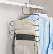 Creative Design S Shape Hangers Multifunctional Holder For Trousers Towels Clothes  Scarf Wraps Shawl Five Racks Space Saving