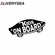 SLIVERYSEA 19*8cm INTERNAL Kids On Board Baby on Car Stickers Warning Viny Decals Funny for Body Motorcycle Window