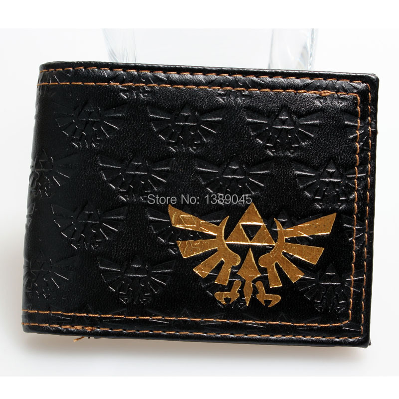 The Legend of Zelda triangle power of The gods 2  boys and girls students personality animated cartoon 2 fold wallet DFT-1069 the food of the gods