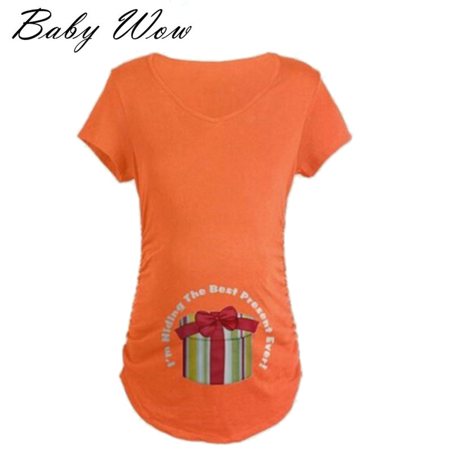 Pregnant Maternity T Shirts Shorts Casual Pregnancy Clothes For Pregnant Women Clothing Gravida Vestidos God's Gifts tyh-50578