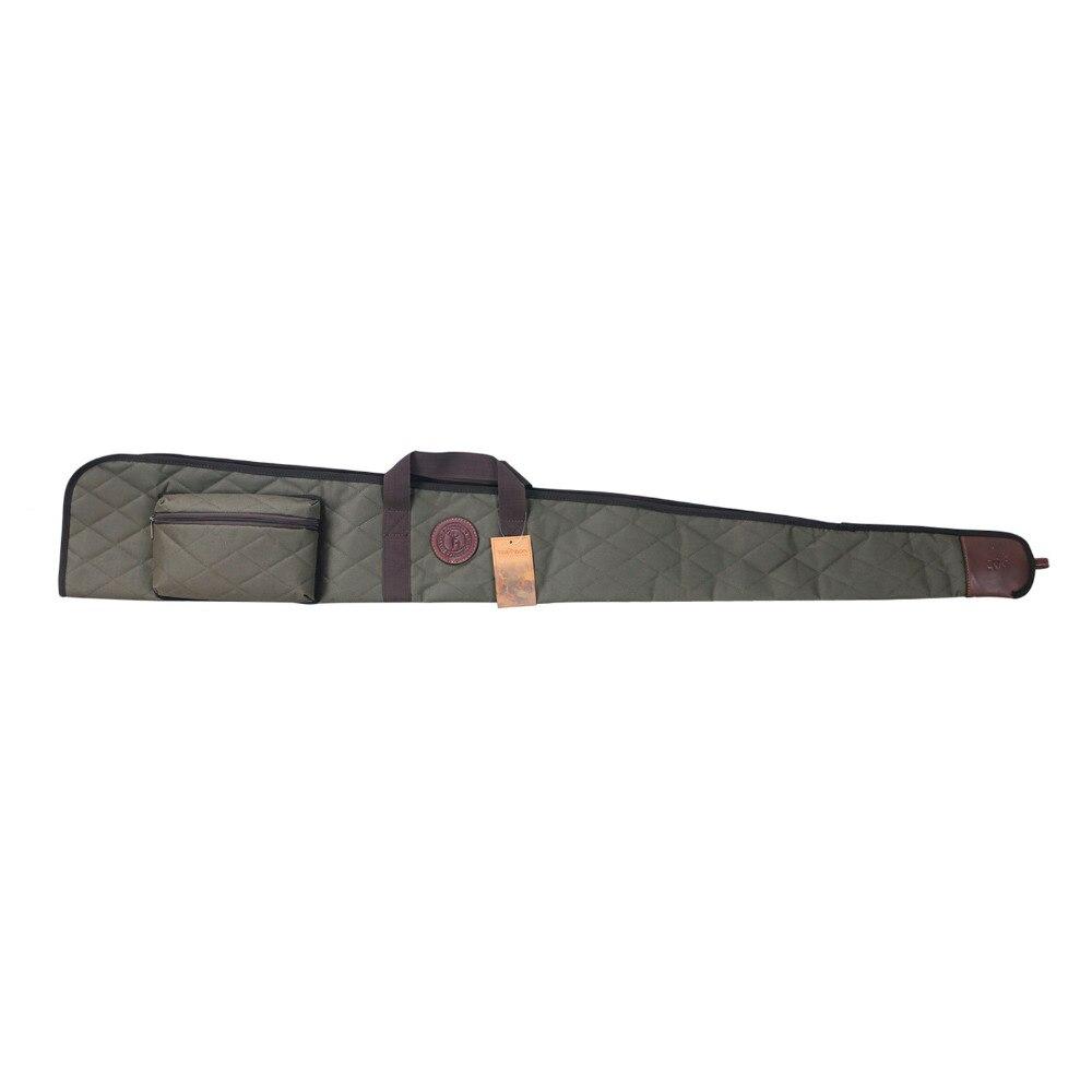 Tourbon Tactique Fusil Glissement Sac En Nylon Souple Rembourré Transport des Armes À Feu pour La Chasse 138 cm avec des Munitions Cartouches Pochettes