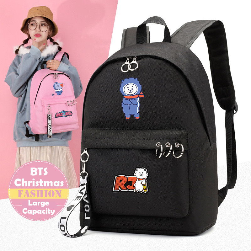 Kids & Baby's Bags Sporting Kpop Bts Bangtan Boys Backpack Love Yourself Lovely Travel Bag For Teenagers Girls Silk Ribbon Round Ring Schoolbag Pink High Resilience