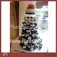Wedding paper cups acrylic display circular wedding festival double sugar cake tier 7 party acrylic cake stand