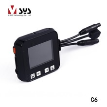 Factory directly sale Dual waterproof Camcorder C6 motorcycle DVR with rear cam vehicle view dashboard cameras