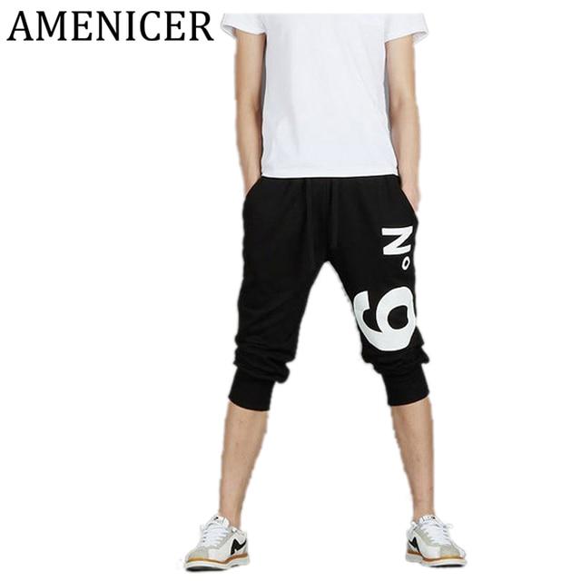 Hombre Pantalón Corto de Algodón, Pantalones cortos de los hombres de la moda Pantalones Gimnasio Pantalones deportivos para…