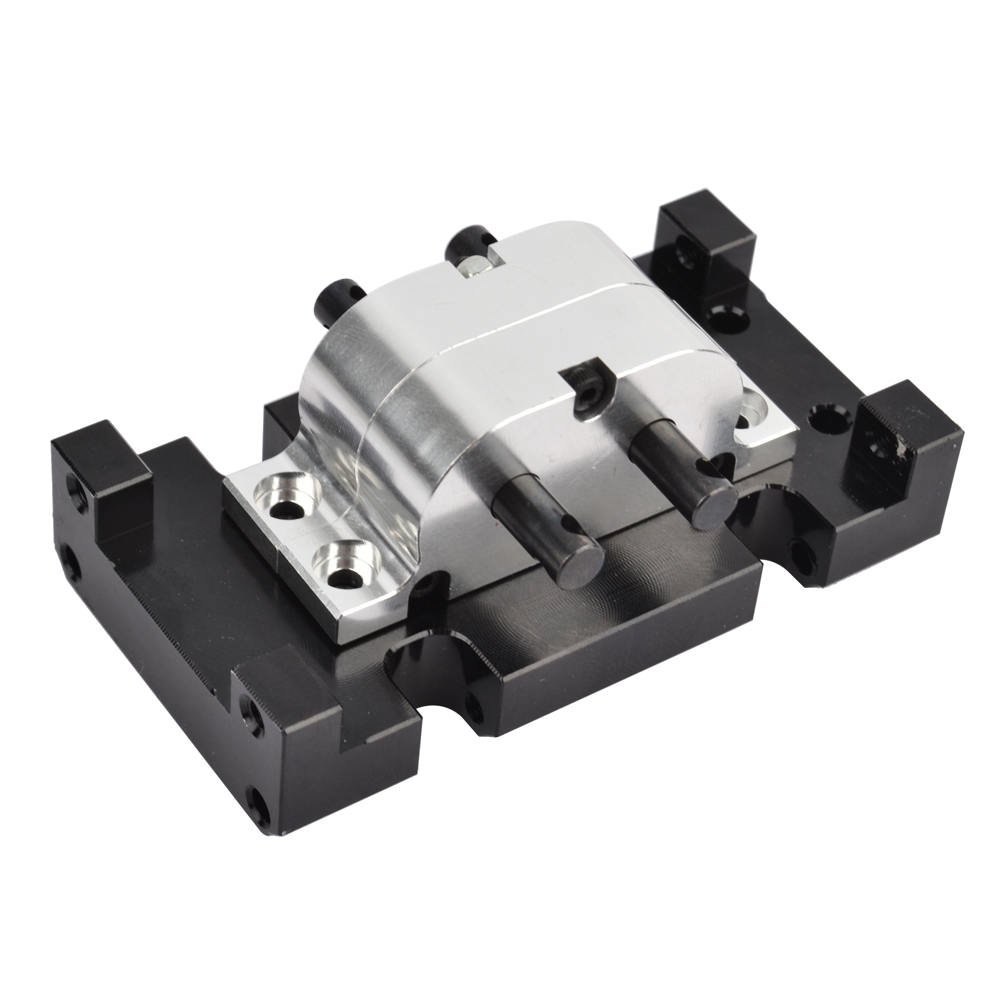 Image 3 - RCAIDONG Metal Gearbox Transfer Case Mount Holder for Axial SCX10 D90 D110 1/10 RC Crawler-in Parts & Accessories from Toys & Hobbies