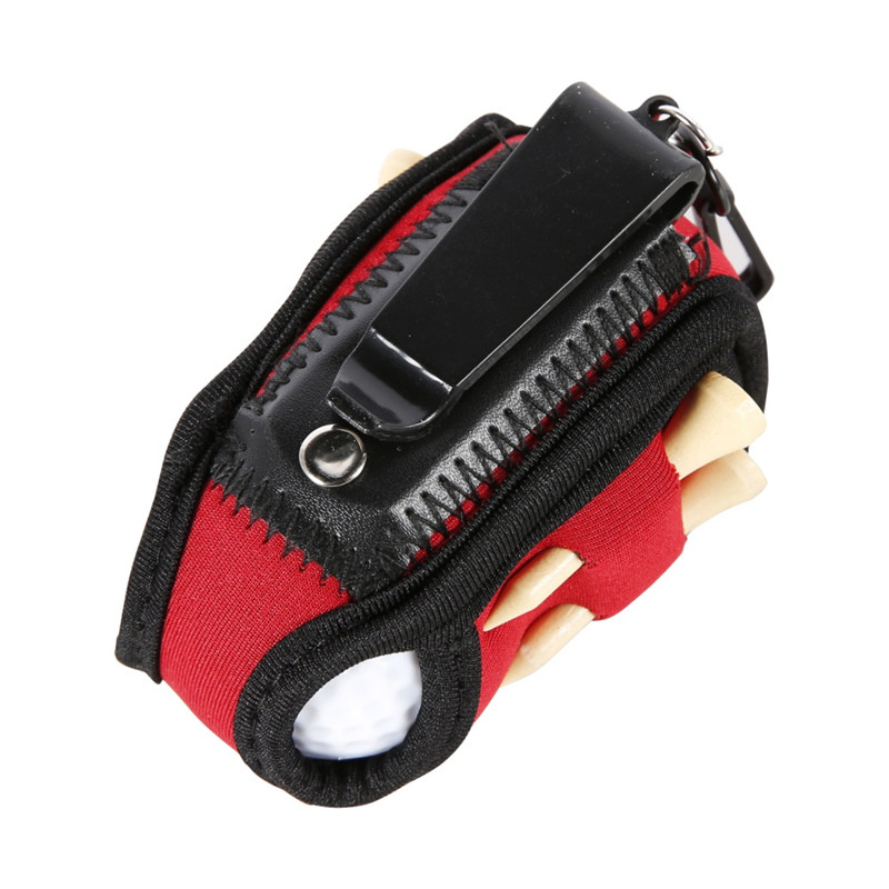 Multifunctional Portable Golf Ball Holder Mini Waist Bag Golf Ball Holder Bag 2 Balls & 4 Tees Golfers Gift Outdoor Sports Tool