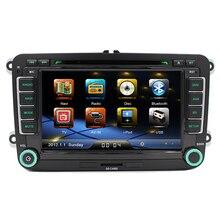 Free shipping 2 Din 7 Inch Navi Radio Audio Car DVD GPS For Skoda Octavia Superb Rapid Yeti Fabia VW Passat Jetta Polo Golf 5 6