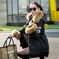 Down Parka 2016 Winter Jacket Women Large Real Raccoon Fur Collar Coats Thick Hooded Duck Down Parkas Jacket Outwear For Female