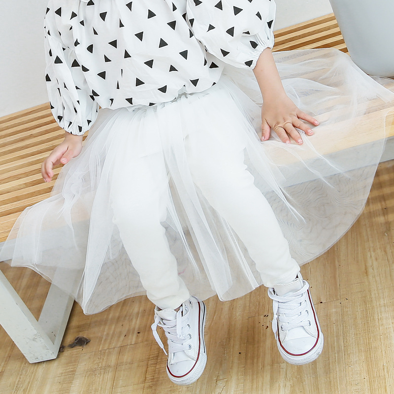 8d9554922 Toddler Kids Baby Girls Long Lace Tutu Skirt Pants Culotte Pantskirt ...