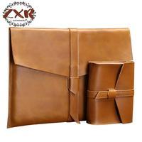 New Fashion Cowhide Male Commercial Briefcase Leather Vintage Men S Messenger Bag Casual Business Bag