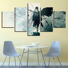 5 Panel Canvas Painting Naruto Sasuke Wall Modular Art Posters Framework HD Prints Pictures Home Decor