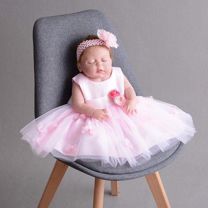 Robe bébé fille 1 an fille anniversaire Robe avec fleur bandeau mariage fleur fille Robe Tulle dentelle Robe A015 Robe Vestido