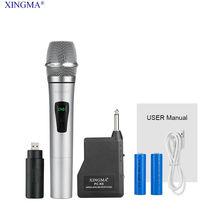 XINGMA PC-K6 Micrófonos inalámbricos, condensador de micrófono profesional con receptor dinámico Uhf, micrófono para estudio con sistema de karaoke Micrófono Inalámbrico Receptor Inalámbrico batería de litio Recargable