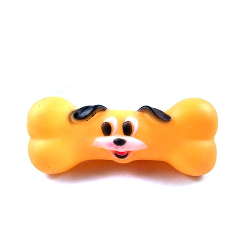 Forma de hueso Estilo Mascotas Chillido Juguete Perro Lindo Estilo de la Cara de