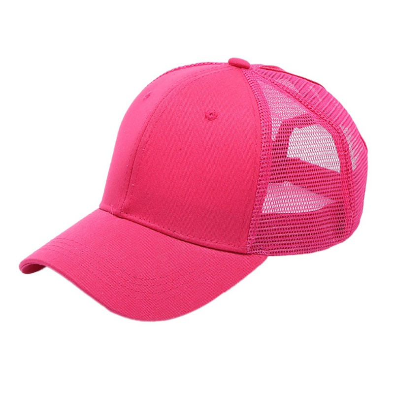1pc Ponytail Cap Women Men Cotton Adjustable Sunshade Mesh Sun Hat Sportswear Accessory New