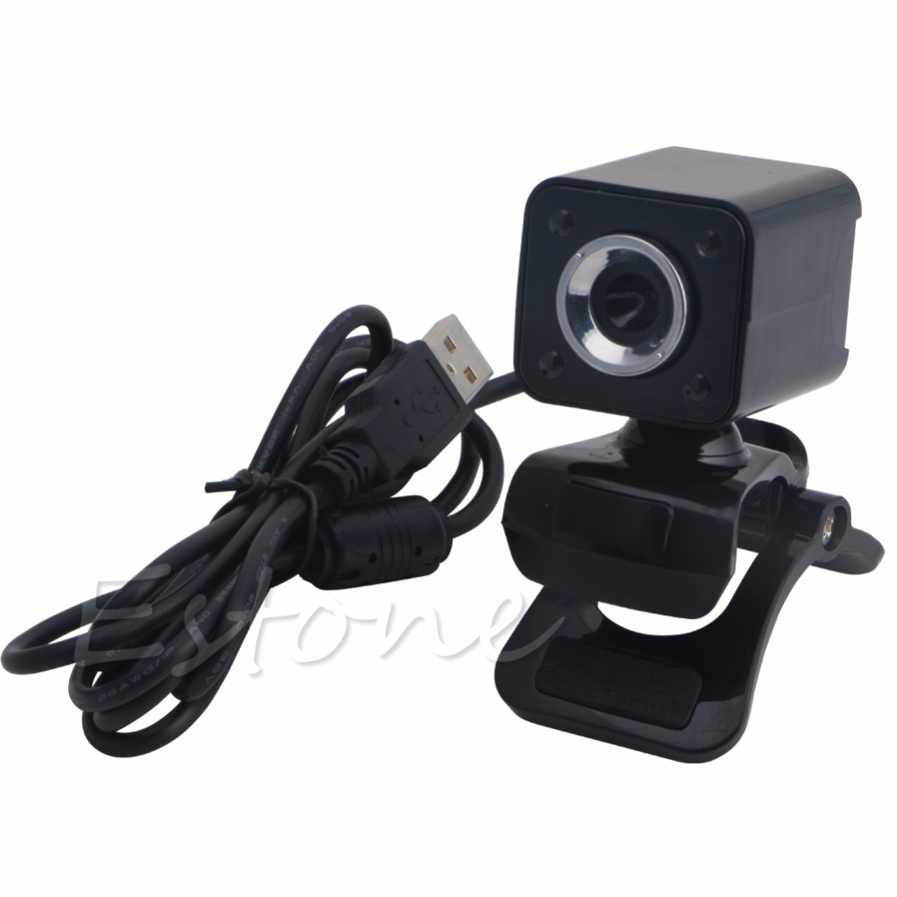 1 Set 1080P 8.0MP USB 2.0 4 LED HD Webcam Web Cam Camera with MIC For Laptop Computer New And Hot Selling