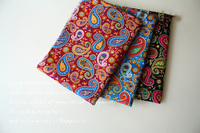 Good Quality Handmade Cloth Patchwork Quilt Cotton Fabric Small Paisley Flower Design 3 Color Available 148cm
