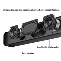 TV Sound Bar Portable boombox phone PC Speaker Bluetooth Wireless loudspeaker Home Theater System soundbar Radio mp4 player