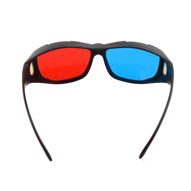 Brand New Plastic Framed Dimensional Anaglyph 3D Vision Glasses Plasma TV Movie