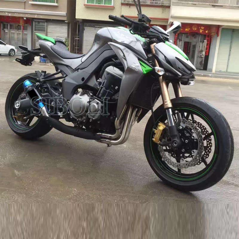 Z1000 دراجة نارية الانزلاق على العادم الخمار الأنابيب تعديل أنظمة كاملة لكاواساكي Z1000 2010 2011 2012 2013 2014 2015 2016 سنوات