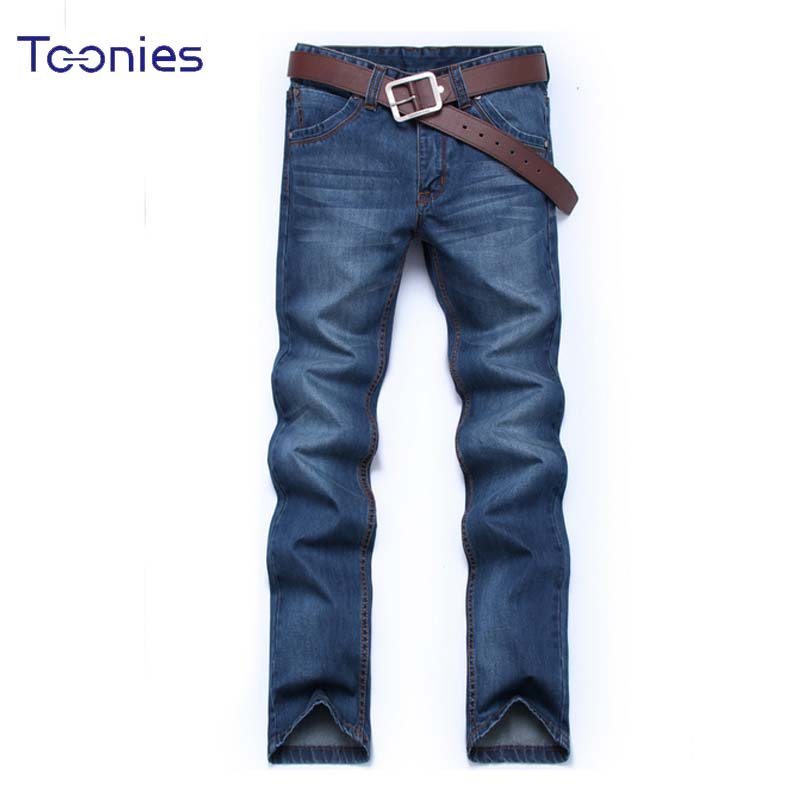 Business Jeans Men Plus Size Casual Denim Pants Male Straight Jean Homme Natural Waist Homme Jeans Trousers Plus Size Hombre xmy3dwx n ew blue jeans men straight denim jeans trousers plus size 28 38 high quality cotton brand male leisure jean pants
