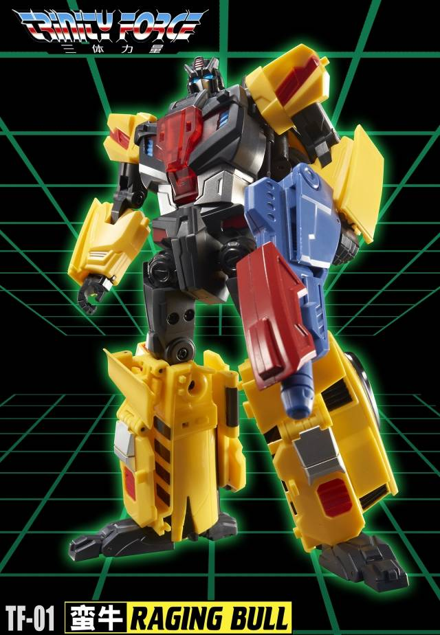 [Show.Z Store] TFC Toys Trinity Force TF-01 RAGING BULL VICTORY ROAD CAESAR LASTER Transformation Action Figure [show z store] [pre order] tfc toys trinity force tf 03 wildchaser blacker transformation action figure