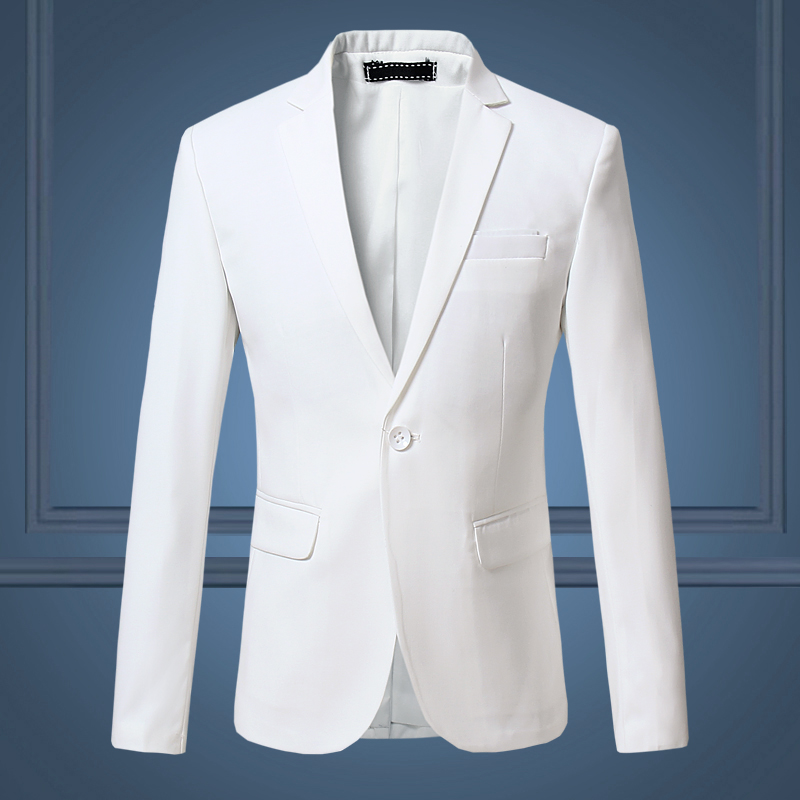 Aliexpress.com : Buy White Men's Blazer Solid Business Casual Suit ...