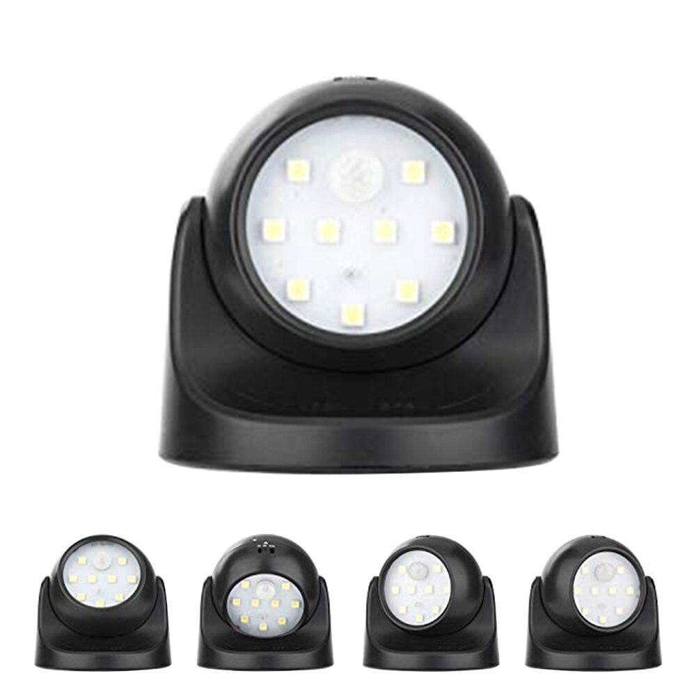 9LED Motion Sensor Night Light Ecurity Waterproof NightLight Auto PIR Detector Lamp Auto 360 Degree Rotation Wall Lamp For Room