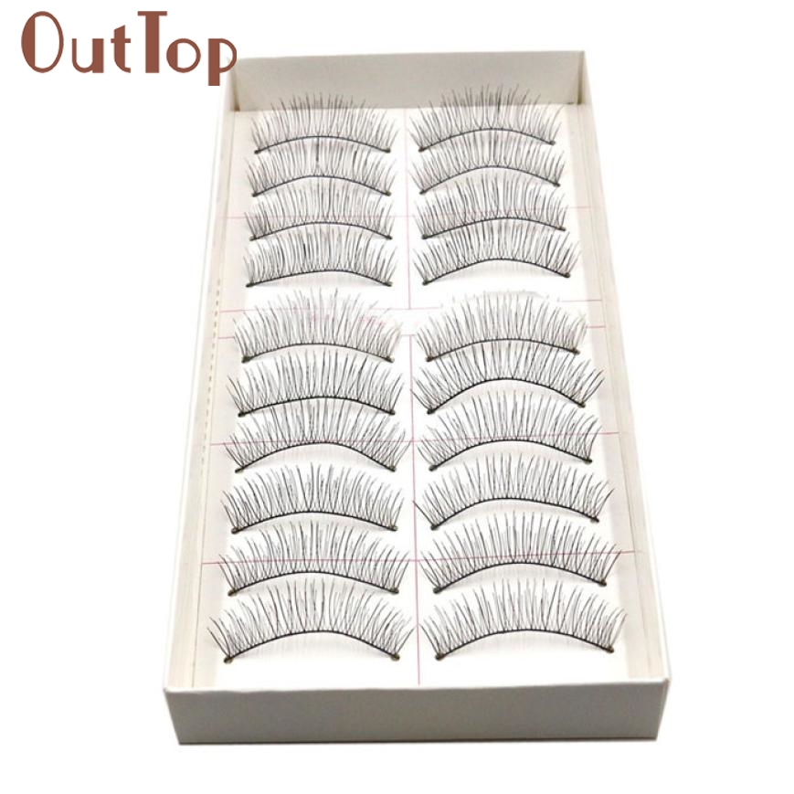 New 10 Pairs Long Thick Soft Handmade Fake False EyeLash Makeup Extensions Levert Dropship 23mar13