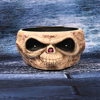 2019 New Halloween Fruit Candy Skull Head Bowl Halloween decoration props Ghost Hand Fruit Bar Skeleton Hand Props for Party