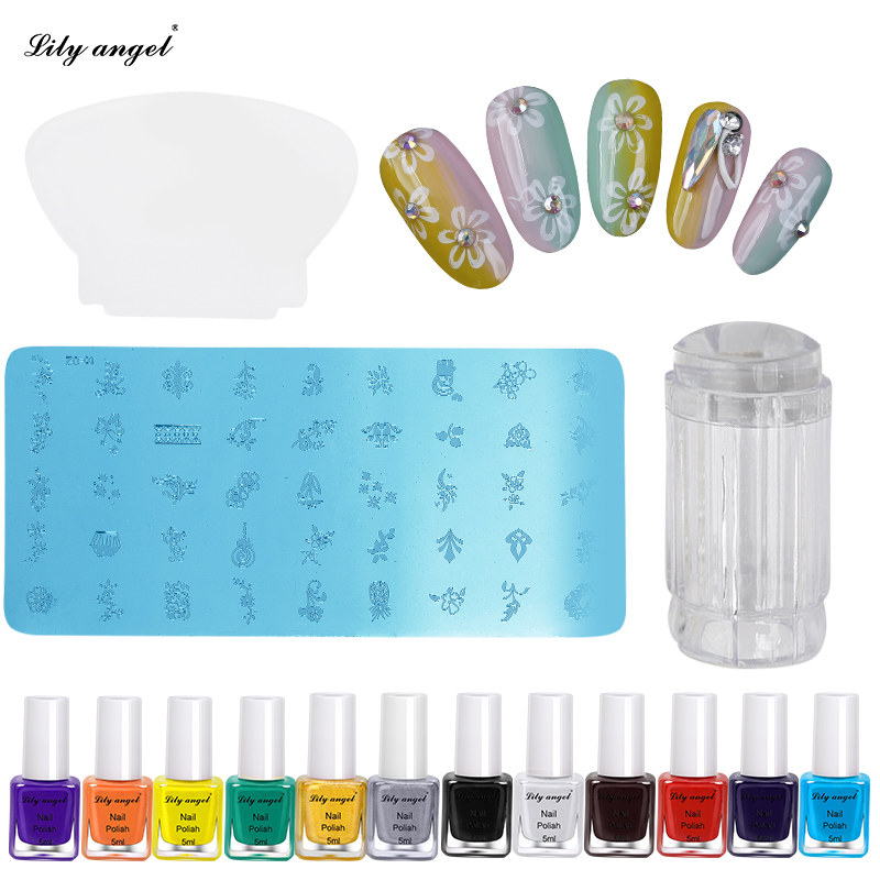 4 pcs5ml Nail Polish Jelly Stamper&Scraper for Gel