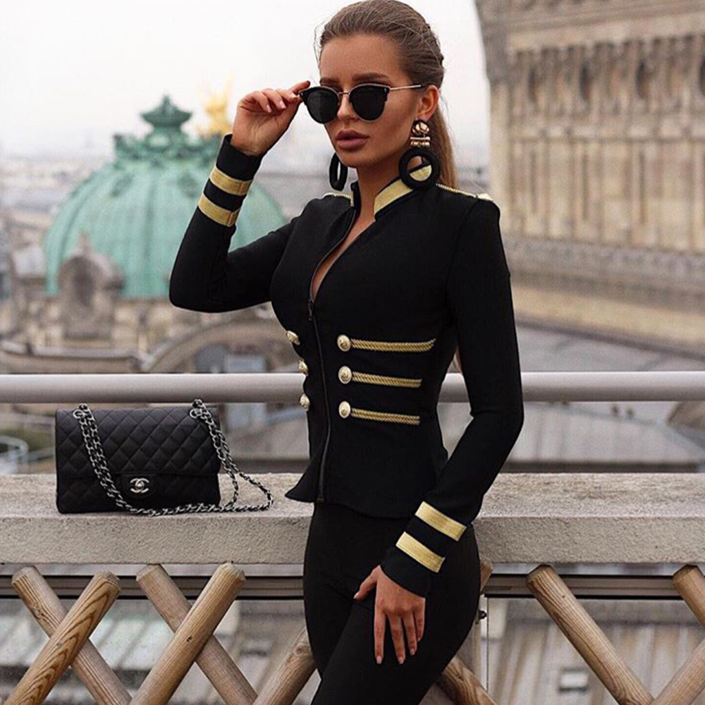 2019 New Slim Bandage   Basic     Jackets   Casual Long Sleeve Casual Stretch Outwear Black Wine Red Runway Party Women's Coats Spring