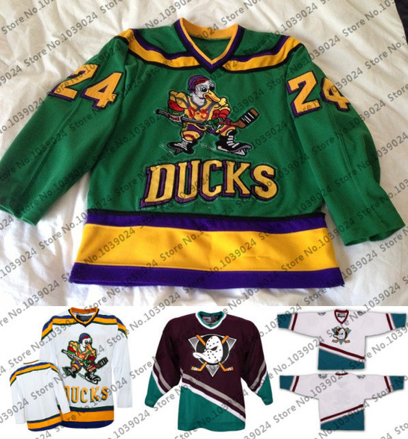 on sale de5db e3bde US $49.84 |Multi Styles 24 Peter Mark Mighty Ducks Movie D 5 Jersey Anaheim  Ice Hockey Jersey Retro S 4XL Amazing discount-in Hockey Jerseys from ...