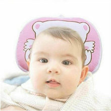 Fashion Cute Solid Baby Pillow Newborn Anti Flat Head Syndrome for Crib Cot Bed Neck Support One Size 4 Colors(China)