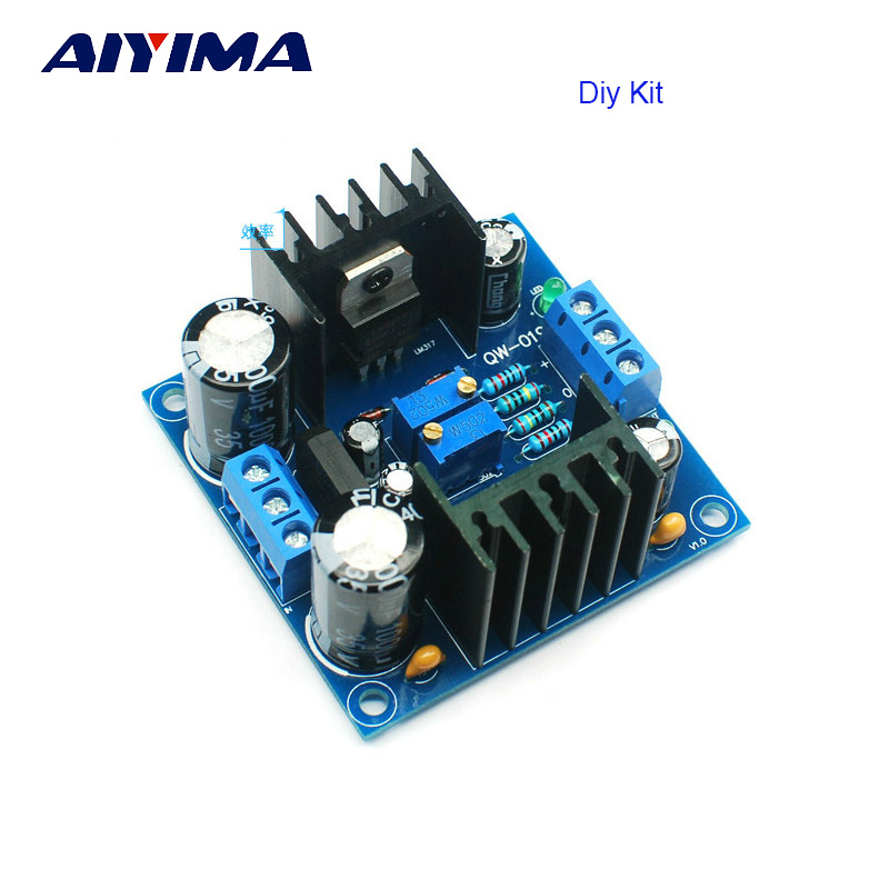 Aiyima LM317 LM337 Filter Regulated Voltage Power Supply Board Adjustable Continuous For Preamp Headhpone AMP DIY KITS lm317 lm337 adjustable filtering power supply kits diy ac dc voltage regulator
