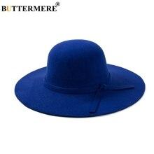 BUTTERMERE señoras de lana sombreros sombrero azul de invierno elegante Vintage  sombreros con ala ancha Espana 78b7bc6cfb8