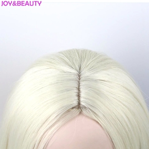 Image 5 - JOY&BEAUTY Hair High Temperature Fiber Cosplay Party Wigs Harley Quinn Wig Mixed Color Synthetic Hair Peruca Women 60cm