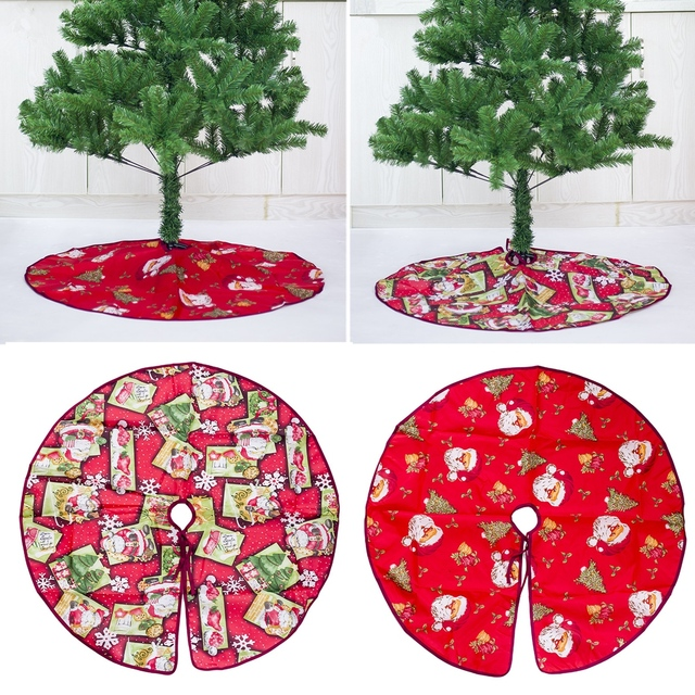 Cloth Christmas Tree Skirt Base 60 90cm Round Floor Rug Cover Mat Gift