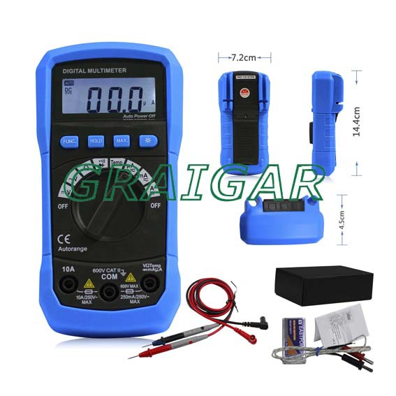 ФОТО ADM02  AUTORANGE DIGITAL MULTIMETER WITH TEMP