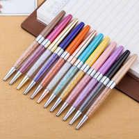 17 colorido metal cristal caneta diamante esferográfica canetas criativo papelaria esferográfica caneta novidade presente chancery material escolar