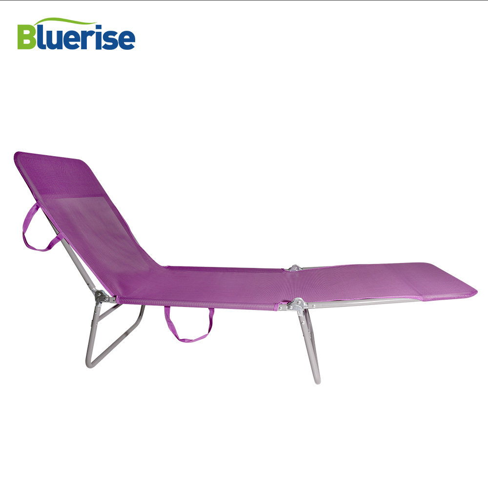 BLUERISE Outdoor Folding Bed Chaise Lounge Camping Hiking Solarium Massage Couch Cabana Garden Patio Furniture Beach Chair bluerise modern outdoor umbrella garden patio sunshade 6 bones folding advertising beach garden tent umbrella villa garden
