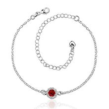 Anklet silver plated anklet silver fashion jewelry anklet 20+10CM chain for modern women jewelry free shipping djhg LA033-D